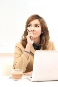 Portrait Of Pensive Woman by iconmac