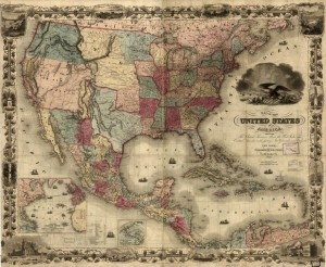 Map of the United States of America. Library of Congress. http://www.loc.gov/item/98685348/