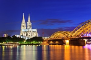 Cologne Cathedral And Hohenzollern Bridge  by noppasinw. Courtesy of www.freedigitalphotos.net