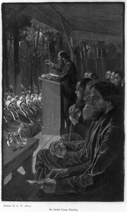 "Half-tone reproduction of drawing by G.W. Peters in ""Among the Dunkers,""  Scribner's Nov. 1901. Library of Congress. LC-USZ62-54917"