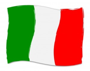 Italian Flag Shows Italy Nationality And Nation by Stuart Miles/Courtesy of Freedigitalphotos.net