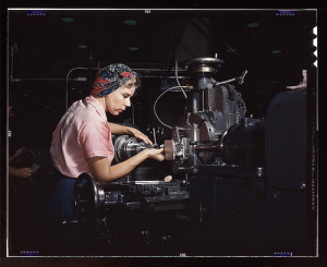 Woman machinist, Douglas Aircraft Company, Long Beach, Calif . Flickr the Commons. Library of Congress.