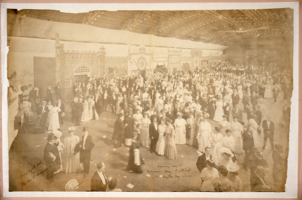 Opening night, Masonic May Festival, Washington, May 23, [19]06. Library of Congress Prints and Photographs Division Washington. http://www.loc.gov/pictures/resource/pan.6a34800/