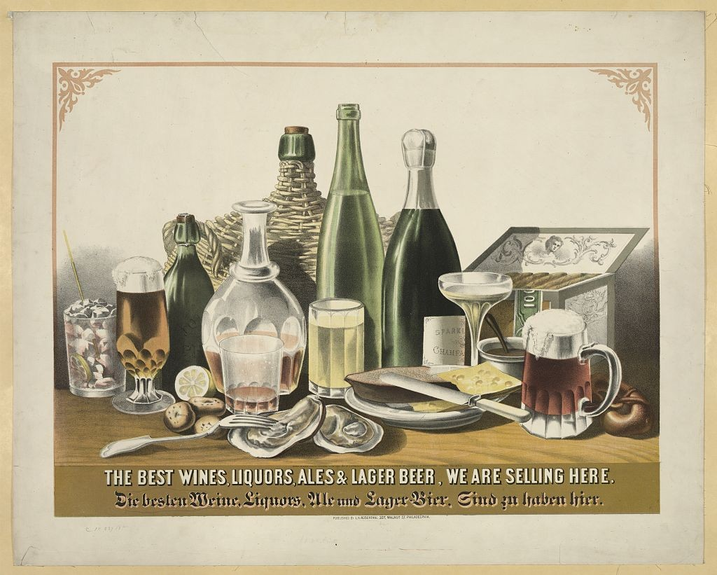 The best wines, liquors, ales & lager beer, we are selling here. Prints and Photographs Online Catalog. Library of Congress. http://www.loc.gov/pictures/item/93506842/resource/