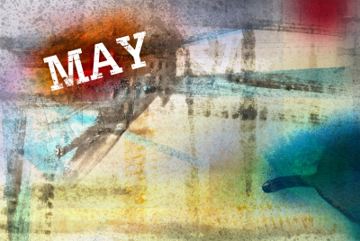 May Month Art Grunge Design by fotographic1980/Courtesy Freedigitalphotos.net