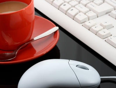 Keyboard And Mouse With Coffee by Stuart Miles/Courtesy Freedigitalphotos.net