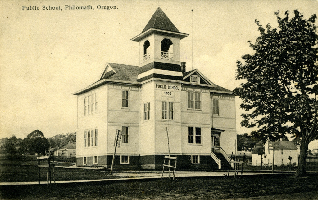 Public School, Philomath, Oregon. OSU Special Collections. Flickr the Commons. https://flic.kr/p/dmYd53